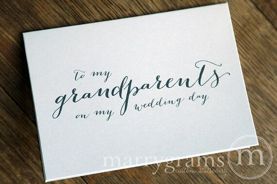 Gold Foil Wedding Card Grandma Wedding Card To My Grandparents On My Wedding Day Card Wedding Party Card Gift for Grandparents Wedding
