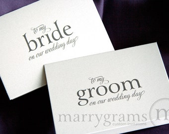 Wedding Card to Your Bride or Groom on Your (Our) Wedding Day - Groom Gift, Bridal Card from Husband to Wife - Day-Of Gift CS08