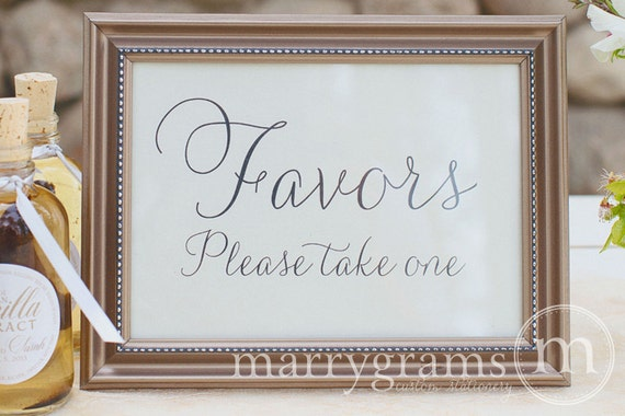 Wedding Favors Table Card Sign Wedding Reception Seating Etsy