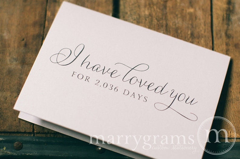 Wedding Card to Your Bride or Groom - I Have Loved You for # Days - Love Card Perfect for Wedding, Valentine's Day or Anniversary - CS01 photo