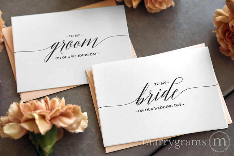 acfa0afa5e1dd Wedding Card to Your Bride or Groom on Your (Our) Wedding Day - Love Note  to Future Husband or Wife Card Keepsake Love Note Before I Do CS13