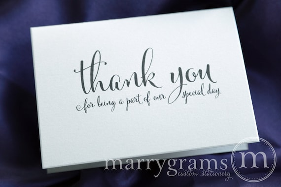 Wedding Thank You Note Card Set Misc Thank You For Being A Etsy
