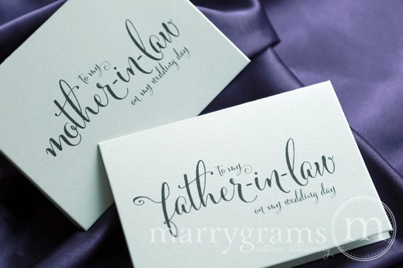Father In Law Wedding Gifts: Wedding Card To Your Future Mother And Father In-law