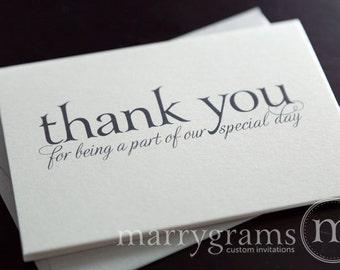 Wedding Vendor Thank You Cards, Thank You for Hosts, Venue, DJ, Baker, Coordinator, Planner, Priest, Family, Florist Caterer CS08 CHOOSE AMT