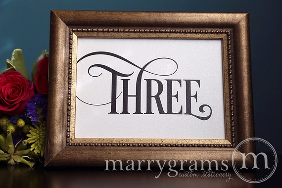 Table Number Signs Perfect For Your Wedding Reception Etsy