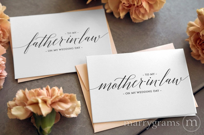 Wedding Card to Your Future Mother and Father in-law - Parents of the Bride or Groom Cards - Mother of the Groom Gift (Set of 2) CS13 photo