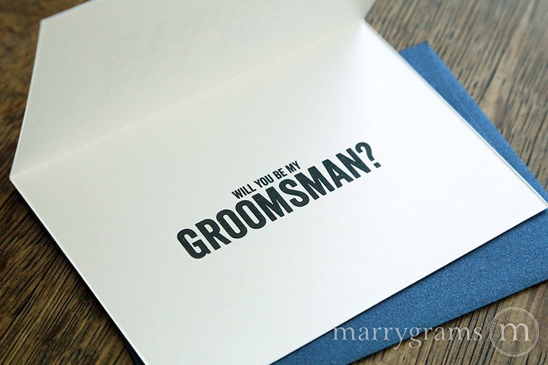 Be My Wedding Party Cards Easy Way for Groom to Ask Groomsmen Usher Funny Will You Be My Groomsman Proposal Card Best Man The Hangover