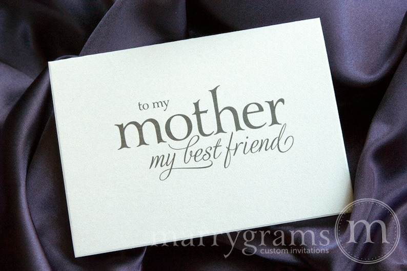 Wedding Card to Your Mom- Mother of the Bride Cards - Mother, Best Friend Card from Daughter to go w/ Mother of the Bride Mother's Day CS08 photo