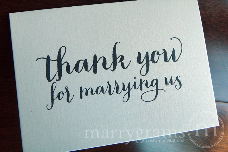 Wedding Card to Your Officiant - Thank You for Marrying Us - Reverend, Priest, Deacon, Rabbi Note Card CS02 photo