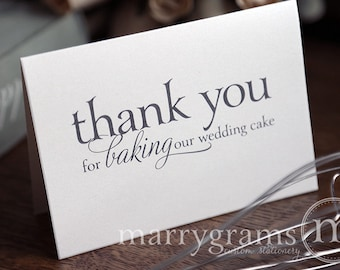 Wedding Card to Your Baker - Thank You for Baking Our Wedding Cake - Vendor Tip Notecard - Vendor Thanks on Your Special Day - CS08