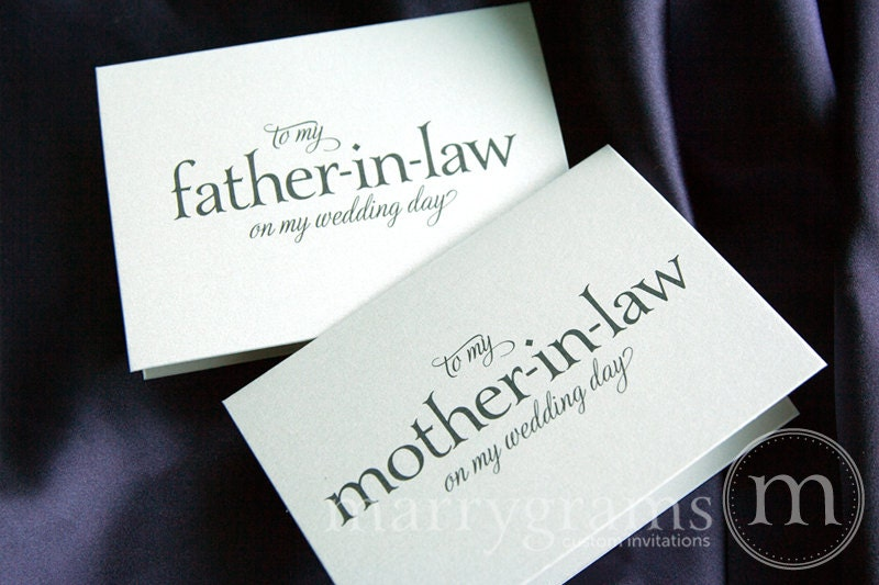 Future Mother In Law Gifts: Wedding Card To Your Future Mother-in-Law And Father In