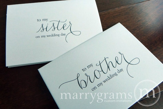 wedding card to your brother or sister siblings of the etsy