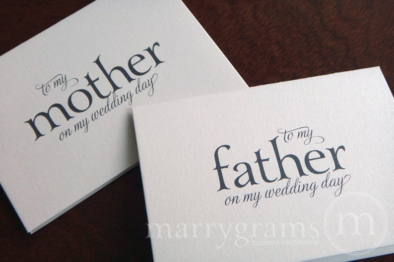 Wedding Cards to Your Mother and Father Parents of the Bride image 0