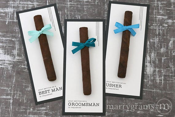Groomsman Card, Cigar Card Will You Be My Groomsman, Your Service Is Requested as Best Man, Ring Bearer, Usher, Way to ask Groomsmen Wedding