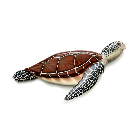 Tortugas marinas arte escultura 29\'\' talla en madera | Etsy