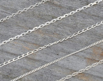 5M//10M In Bulk Jewelry Finding Fancy Charm Chain Stainless steel 2.5mm//4mm