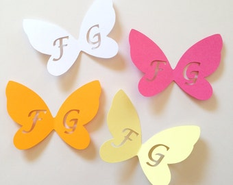 4,0 Cm-Set De 2 Pequeño Fucsia De Color De Plumas Mariposa Con Diseño De