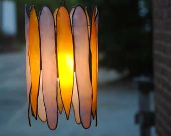 Cosmic Cluster Pendant Lamp in Amber and Lavender