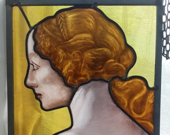 One of  3 Graces from Botticelli's Primavera Stained Glass Panel