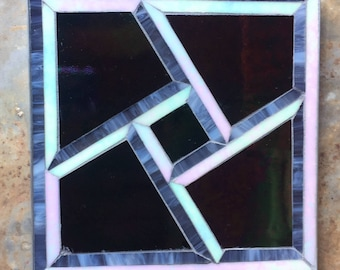 Iridized Glass Table Mosaic
