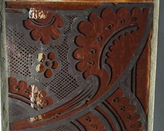 """Antique Glass 6"""" x 6"""" Table Mosaic Trivet"""