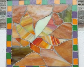 Autumn Leaf Kitchen Table Mosaic