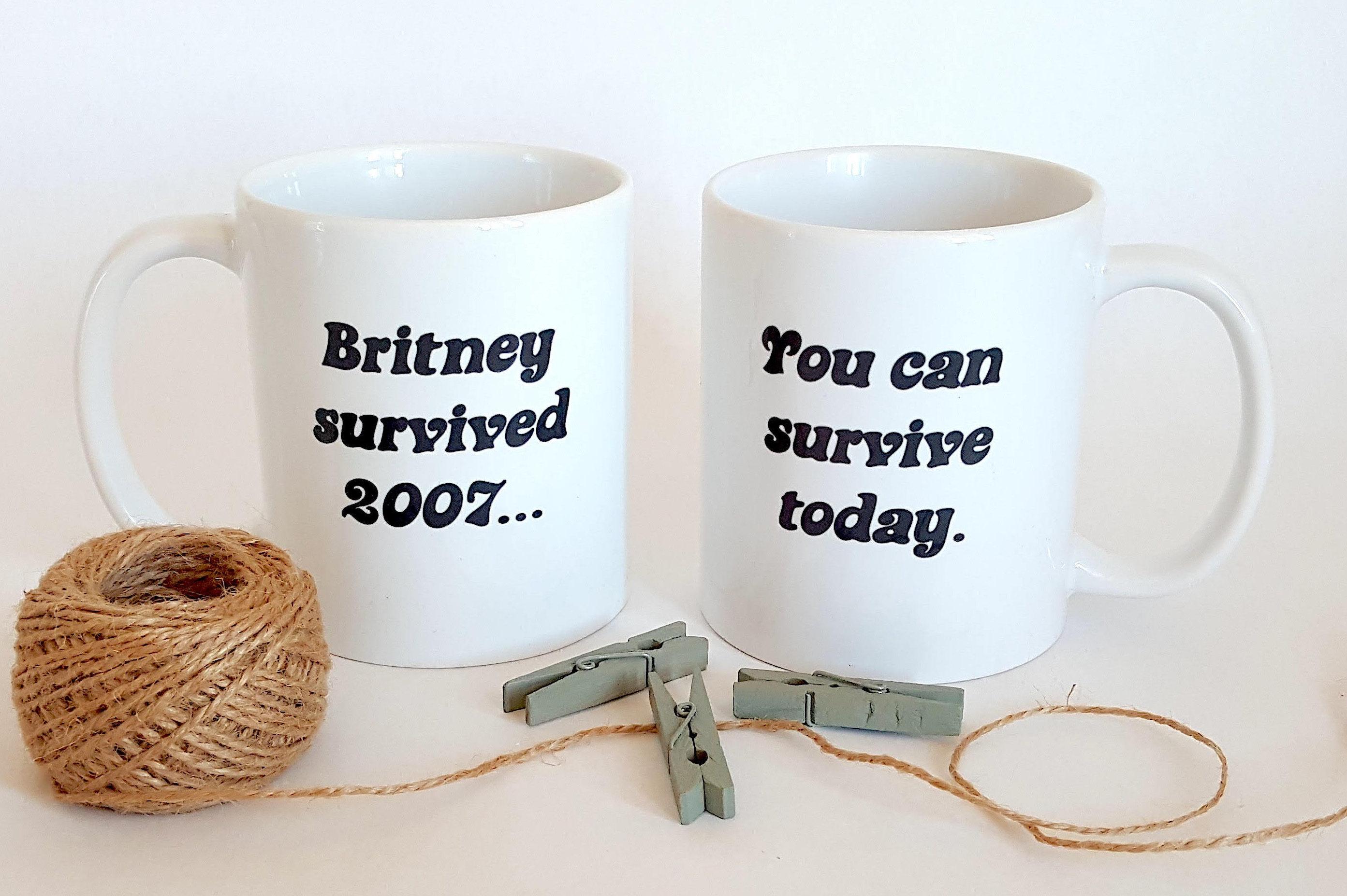 Britney Spears Becher Britney überlebt 2007 Sie können   Etsy
