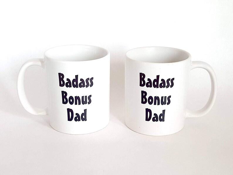 Geschenk Fur Stiefvater Bonus Papa Becher Badass Bonus Etsy