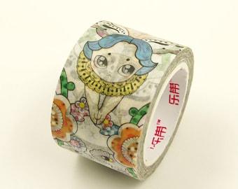 Japanese Washi Masking Tape 7.6 Yards 30mm wide Autumn moon