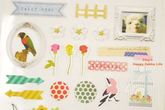 Deco Studio Sonia Stickers Paper Deco Sticker 2 Sheets