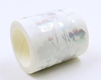 silver bough 03 - Japanese Washi Masking Tape - 50mm wide - 3.3 Yard - no discount