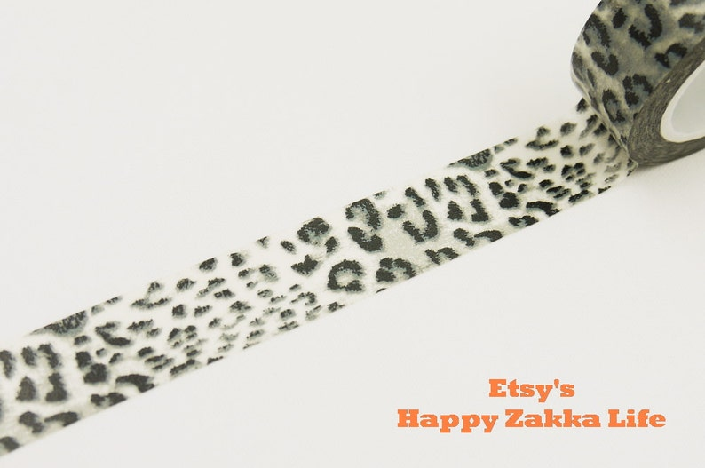 11 yards 1 roll Japanese Washi Masking Tape Leopard Print