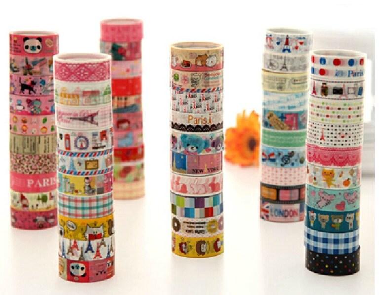03-5.5 yards each roll 10 rolls Translucent Narrow Sticker Tape Set