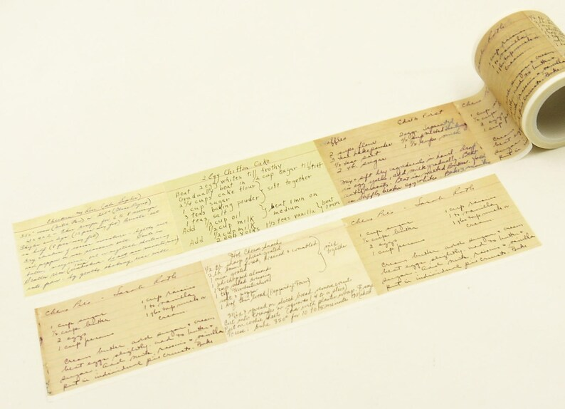 45mm wide Japanese Washi Masking Tape 5.5 Yard Cake Recipe