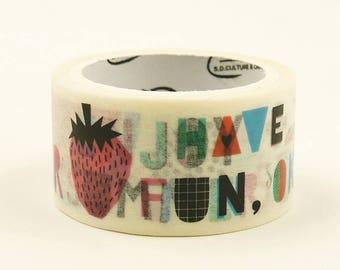Summer Fun - Japanese Washi Masking Tape - 23mm wide - 5.5 Yard