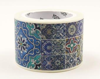 azulejos 02 - Japanese Washi Paper Sticker Tape - 30mm wide - 11 Yard - No discount