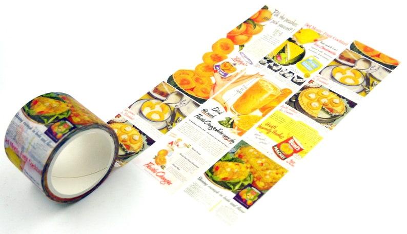 Japanese Washi Masking Tape Yellow peach 5.5 Yard 30mm wide