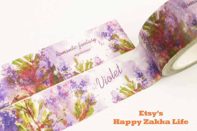 Violet - Japanese Washi Masking Tape - 20mm Wide - 11 Yards