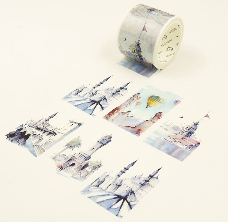 Japanese Washi Paper Sticker Tape 7.6 Yard 40mm wide Turkey