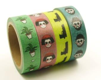 Léon et Mathilda - Japanese Washi Masking Tape Set - 7.6 Yard - 4 rolls - no discount