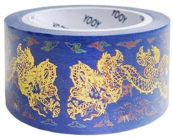 Golden Dragon - Japanese Washi Masking Tape - 25mm wide - 11 yard - no discount