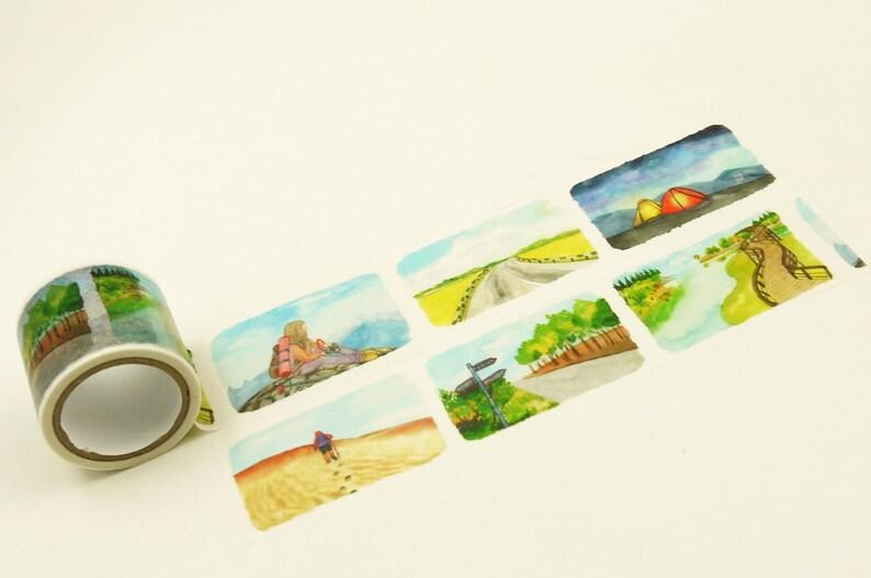 40mm wide 5.5 yard Trail Japanese Washi Masking Tape
