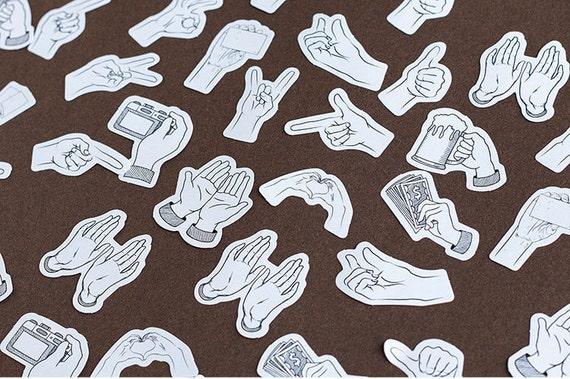 Paper Deco Label Seal Set Communication 45 Pcs