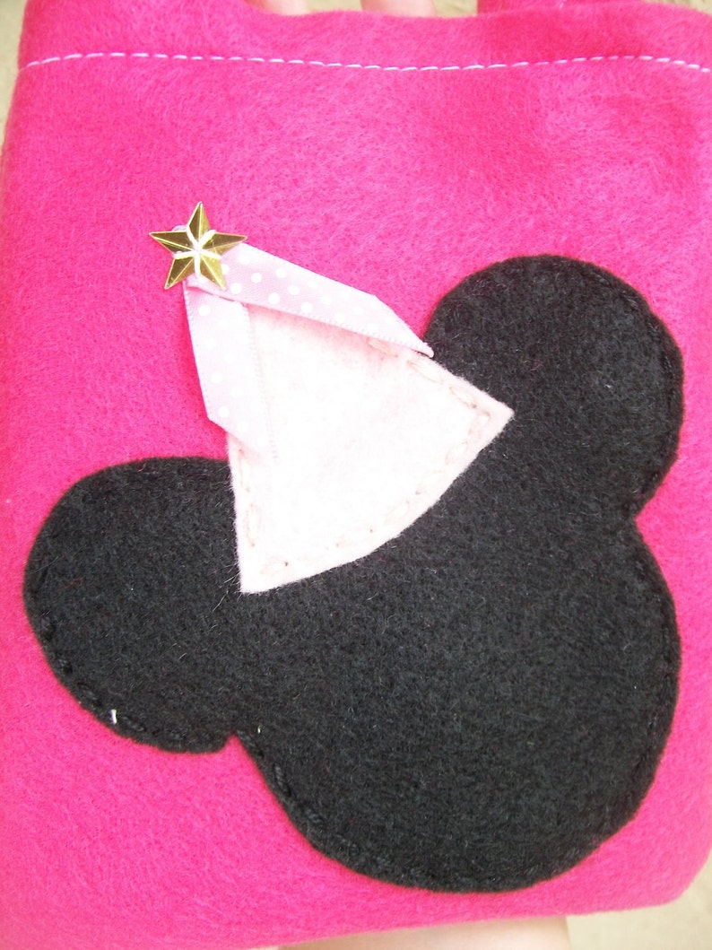 MINNIE MOUSE PARTYFelt party bags candy bags set of 4 party favor minnie supplies