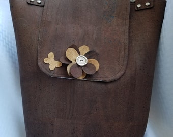 Cork Flower Tote
