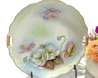 RARE Vintage Lefton Cake Plate /& CandyPickle Dish Set