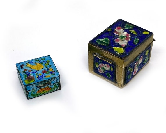 Vintage Amercan Greeting Stationery Box Set Decorated Art Nouveau Cloisonne Looking Print