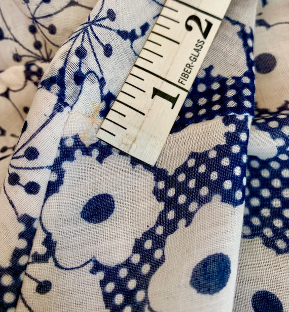 Vintage Blue and White Cotton Voile Vintage Shirt… - image 6