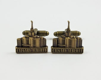 FREE SHIPPING with USPS First Class Domestic Mail Calgary Flames Cuff Links