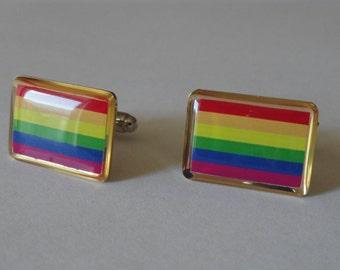 Gay Pride Cufflinks